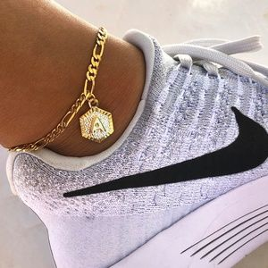 Jewelry - NEW! Initial Letter Gold Plated Adjustable Anklet